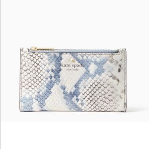Kate Spade Hayes St Snake-embossed Mikey Wallet